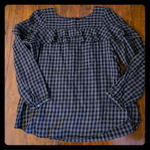Gray Checked Blouse